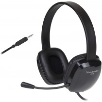 Cyber Acoustics AC-6008 single 3.5mm plug Headset with Noise-Canceling Mic