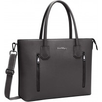 "BaiMay Dark-Grey Shoulder 15.6"" Laptop Bag/Purse"