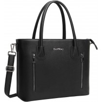 "BaiMay Black Shoulder 15.6"" Laptop Bag/Purse"