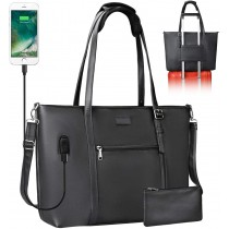 "Chomeiu USB Laptop Organizer 15.6"" Tote Bag/Purse"