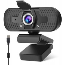 Pathinglek 1080p HD Webcam with Privacy Cover & Mic