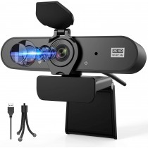 Aufixy 2K HD Webcam with Privacy Cover & Mic