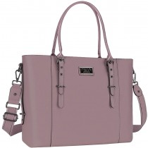 "MOSISO FauxLeather 15.6"" Chic Purple Laptop Tote Bag"