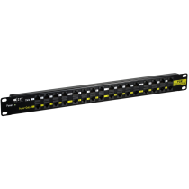 Nexxt 16-Port Passive PoE Patch Panel with Power Supply