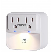 Forza Surge Protector Wall Tap with Dimmable Nightlight FWT-201