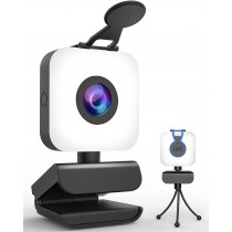 KFF Full HD Wide Angle Webcam with Light