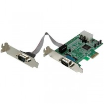 StarTech 2 Port Low Profile RS232 PCI-E Serial Card with 16550 UART