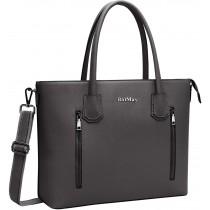 "BaiMay Dark-Grey Shoulder 15.6"" Laptop Bag/Purse"