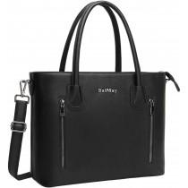 """BaiMay Black Shoulder 15.6"""" Laptop Bag/Purse"""