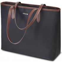 """OSOCE 15.6"""" Dark Grey Lightweight Laptop Briefcase Bag"""