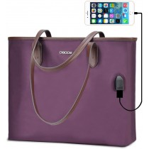 "OSOCE 15.6"" Purple Lightweight Laptop Briefcase Bag"