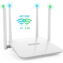 WAVLINK AC1200 Dual-Band High Power Quad MIMO Antennas Smart WiFi Router