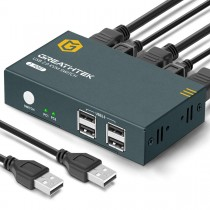 GREATHTEK 4K HDMI USB KVM Switch