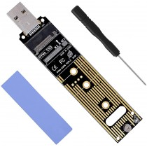 NVMe M.2 SSD to USB 3.1 Type-A Card Converter Reader