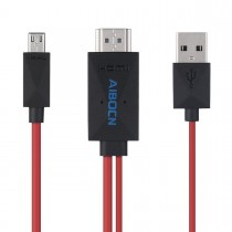 Aibocn 6.5ft MHL 11-Pin Micro USB to HDMI Adapter/Cable 1080p HDTV for Samsung Devices